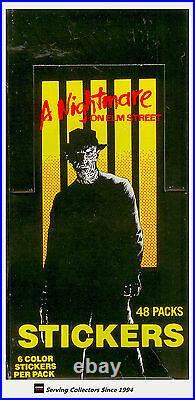 1988 A Nightmare On Elm Street Stickers Box (48 pks x 3 Boxes)-Rare