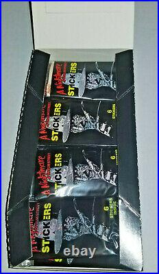 1988 Comic Images A Nightmare On Elm Street Stickers 48 Pack Box Wow Hot