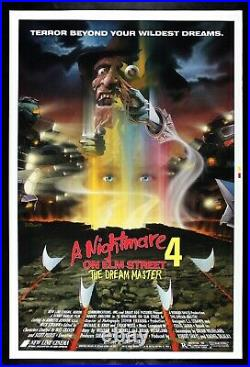 A NIGHTMARE ON ELM STREET 4 THE DREAM MASTER CineMasterpieces MOVIE POSTER 1988