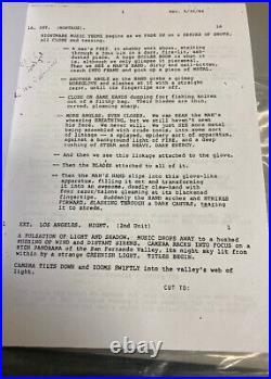 A Nightmare On Elm Street 1984 Original Film Used Script Freddy Krueger Prop