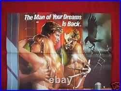 A Nightmare On Elm Street 2 1985 Original Movie Poster Freddy Halloween Nm-m