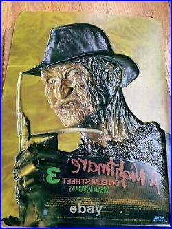 A Nightmare On Elm Street 3 Dream Warriors Molded Poster 1987 Original w Box
