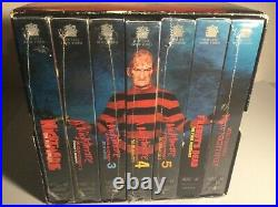 A Nightmare On Elm Street 7 VHS Tapes Box Set Collection Most Sealed New