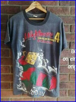 A Nightmare on Elm Street Freddy T-shirt Original Remake Super rare 80s old