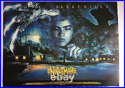A Nightmare on Elm Street UK Quad size poster 1985 from Palace offices card