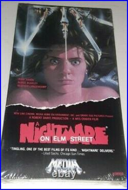 A Nightmare on Elm Street (VHS) Media SEALED Horror Rare Video Treasures