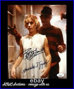 Autograph Photo Robert Englund & Amanda Wyss Nightmare on Elm Street JSA