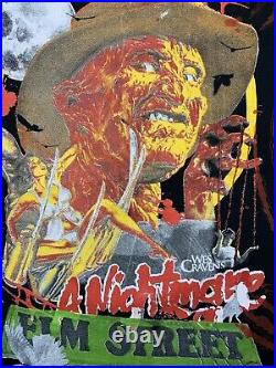 Backstock Co All Over Print Nightmare On Elm Street Graphic Movie T-Shirt XL