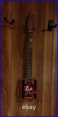 Electric guitar lunch box tin guitar a nightmare on elm street