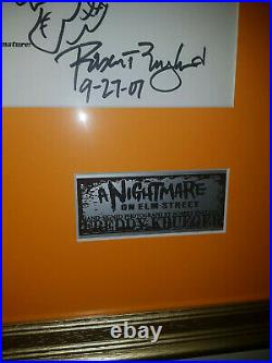 Extremely Rare! Nightmare on Elm Street Freddy Krueger Signed Photo & Interview