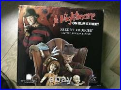 Extremely Rare! Nightmare on Elm Street Freddy Krueger in Chair LE 1500 Statue