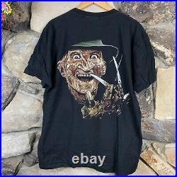 Flybeans Freddy Kreuger Horror Movie XL T Shirt Nightmare Elm Street Promo Vtg