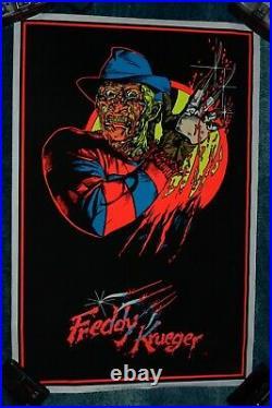 Freddy Krueger Nightmare On Elm Street Felt Blacklight PosterFAST SHIPPING