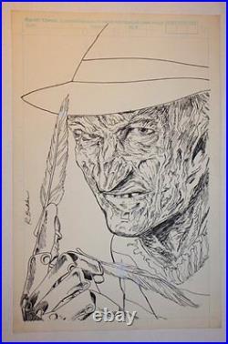 Freddy Krueger's A Nightmare on Elm Street # Cover Splash 1989 Rich Buckler