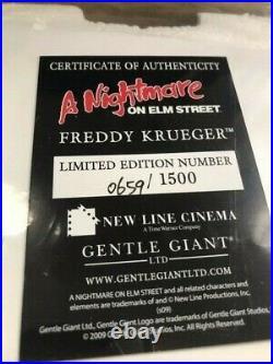 Gentle Giant Freddy Krueger A Nightmare On Elm Street Limited Edition Statue