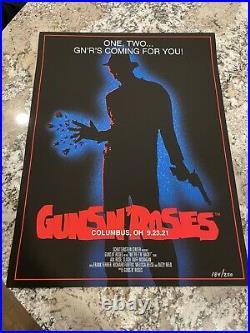 Guns N Roses Lithograph Poster Columbus Ohio 184/250 Nightmare On Elm Street