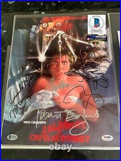 Johnny Depp Signed Nightmare On Elm Street Wes Craven Signed Bas Beckett A