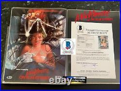 Johnny Depp Signed Nightmare On Elm Street Wes Craven Signed Bas Beckett B