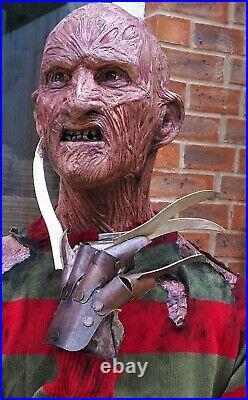 Life size bust freddy krueger prop full torso nightmare on elm street