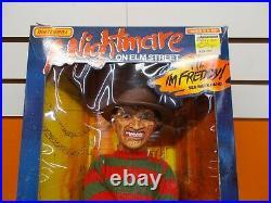 NIB Vintage Toy Matchbox Talking Freddy Kruger A Nightmare On Elm Street