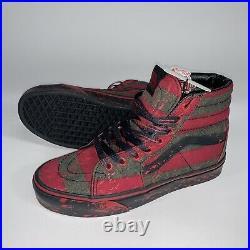New Mens Vans House Of Terror Sz 8.5 Nightmare on Elm Street Freddy Krueger Shoe