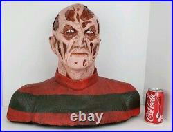 Nightmare On Elm Street Freddy Krueger Life Size Foam Bust Movie Prop Halloween