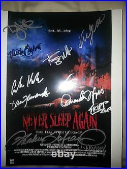 Nightmare On Elm Street Never Sleep Again Cast And Crew Signed 8x10 Photo