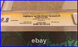 Nightmare On Elm Street Paranoid #1 CGC 9.8 SS ROBERT ENGLUND LEATHER GREEN FOIL