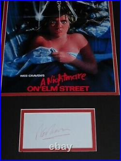 Nightmare On Elm Street SIGNED 11x17 Autographed display Wes Craven AUTO horror