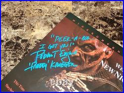 Nightmare On Elm Street Signed Freddy Krueger Laserdisc Wes Craven New Nightmare