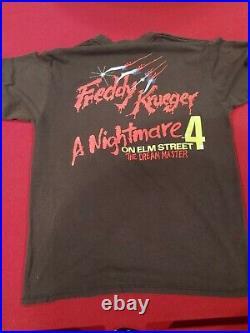 Nightmare on Elm Street Freddy Krueger vintage t shirt horror movie original 88