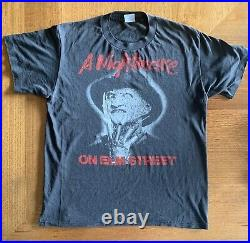Original Vintage A Nightmare On Elm Street T Shirt Super Rare Circa 1985