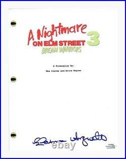 Patricia Arquette Signed A Nightmare on Elm Street 3 Dream Warriors Script ACOA
