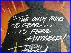 ROBERT ENGLUND Signed Painting FREDDY Nightmare on Elm Street BAS BECKETT COA C