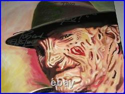 ROBERT ENGLUND Signed Painting Freddy Nightmare on Elm Street BAS BECKETT COA A