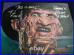 ROBERT ENGLUND Signed Painting Freddy Nightmare on Elm Street BAS BECKETT COA D