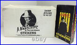 Rare-1988 A Nightmare On Elm Street Stickers(12 Boxes x48 Packs)-Value