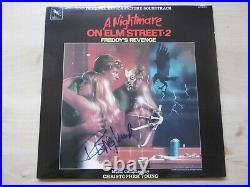 Robert Englund Autogramm signed LP-Cover A Nightmare On Elm Street 2 Vinyl