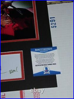 Robert Englund Signed Nightmare on Elm Street 11x17 Photo Display Custom Beckett