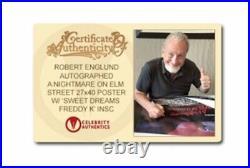 Robert Englund signed A Nightmare on Elm Street Movie Poster