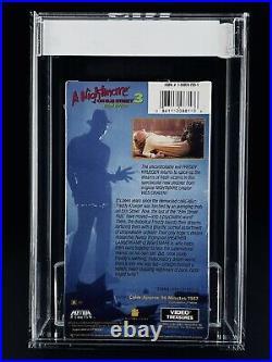 VHS A Nightmare on Elm Street 3 IGS 7.0-7.0 EX 1990 Video Treasures MEDIA