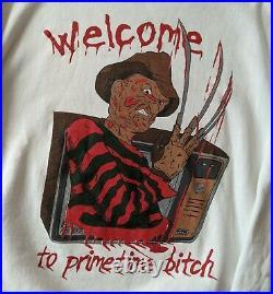 Vintage Freddy Krueger Nightmare On Elm Street Crewneck Size XL, Vintage Horror