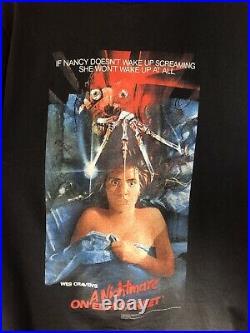 Vintage Nightmare On Elm Street Movie Film T-Shirt Size Large tee 90s Promo