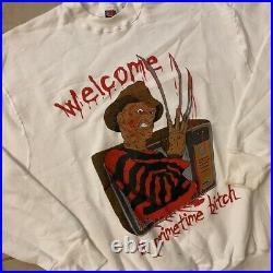 Vintage Nightmare on Elm Street Freddy Krueger Movie Promo Rap T Sweater size XL
