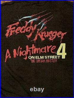 Vtg NIGHTMARE ON ELM STREET t shirt horror movie promo freddy krueger evil dead