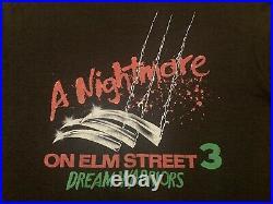 Vtg NIGHTMARE ON ELM STREET t shirt horror movie promo pulp fiction evil dead